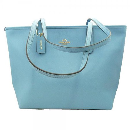 Coach Crossgrain City Zip Top Tote   Bluejay