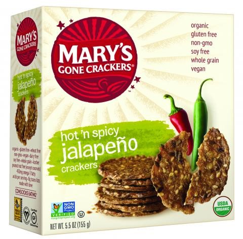 Mary's Gone Crackers Organic Crackers, Hot 'n Spicy Jalapeno, 5.5 Oz