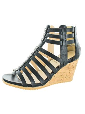 dec0d742db93 Product Image Volatile Womens Prominent Faux Leather Studded Wedge Sandals