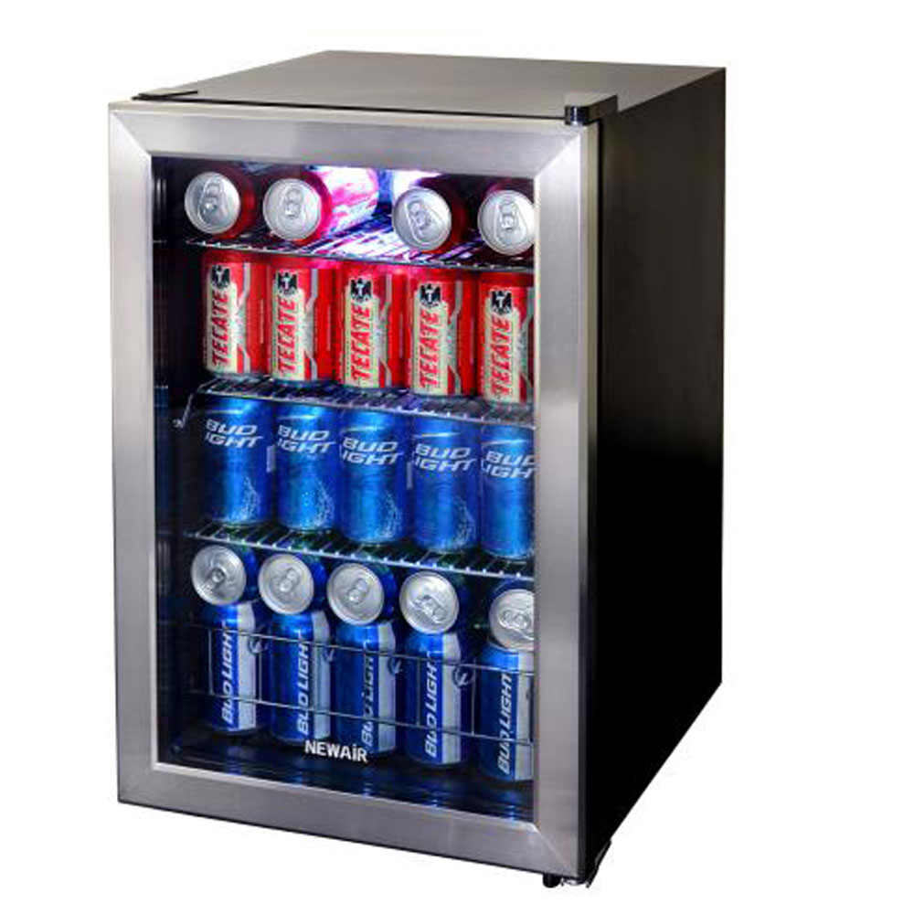 NewAir AB-850 Large Capacity 84 Can Stainless Steel Compact Beverage Cooler