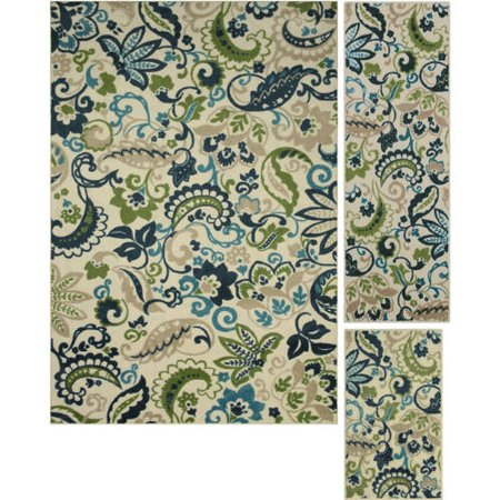 Better Homes And Gardens Paisley 3 Piece Area Rug Set