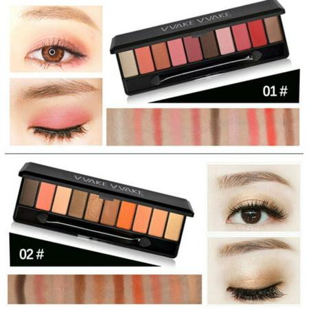 Pro Shadow (Popular Cosmetics Eye shadow Makeup Pro Shimmer Eyeshadow Palette 10colors #2)