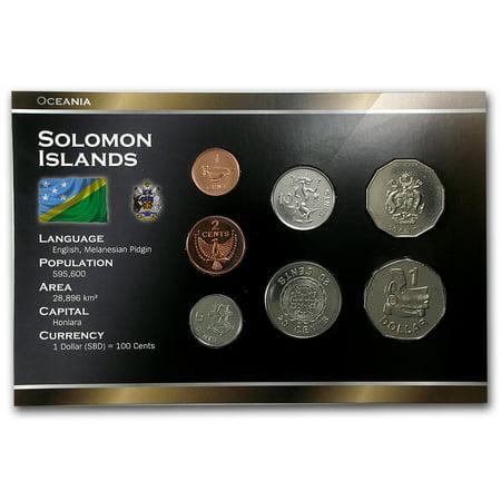 1988-2010 Solomon Islands 1 Cent-1 Dollar Coin Set Unc (Free Presidential Dollar Coins)