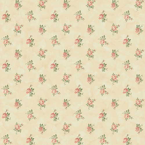 Blue Mountain Newbury Rose Wallcovering, Beige
