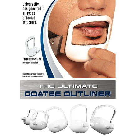 Beard Optima Goatee Outliner Kit - 5 Sizes Set All-In-One Tool | The Beard Care & Grooming Gift Kit For Any Beard Bro | Use With A Beard Trimmer Or - Goatee Beard Without Moustache