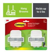 Command Broom & Mop Gripper, 2 Grippers, 4 Strips/Pack