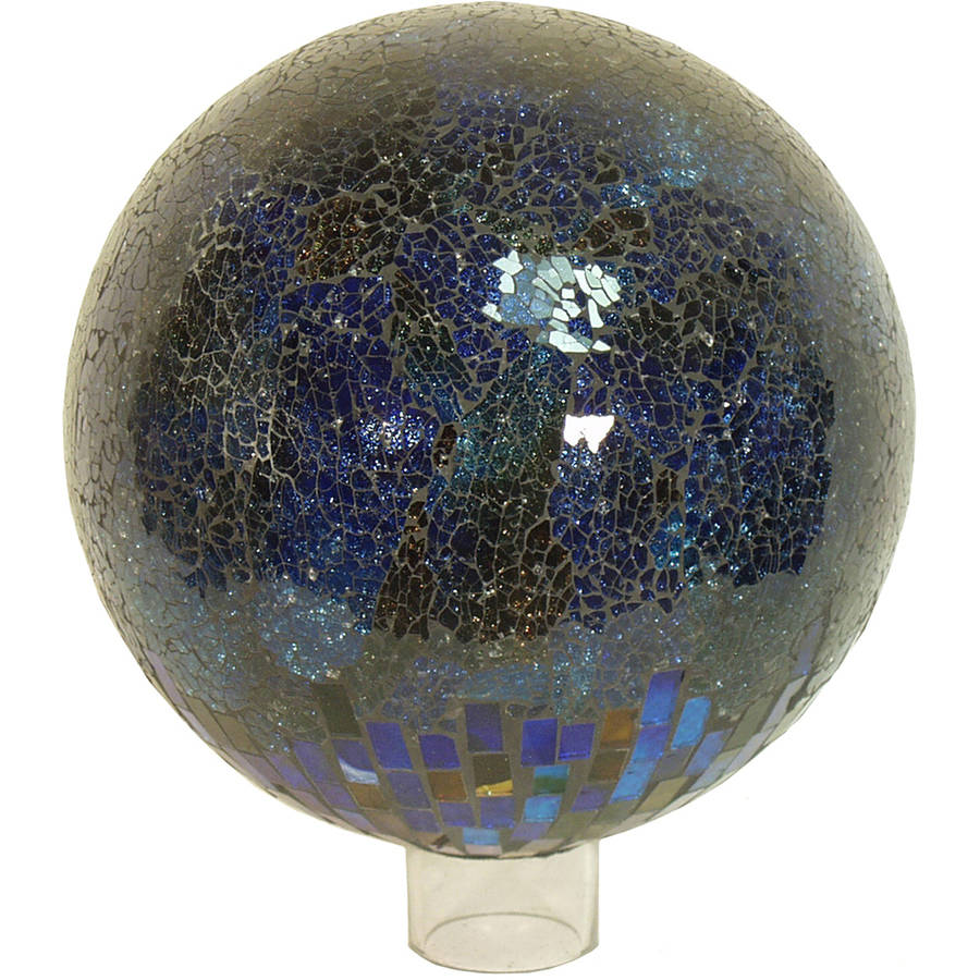 "Echo Valley 8216 10"" Violet Multi Textured Mosaic Globe"