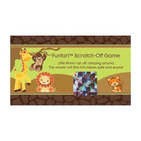 Funfari   Fun Safari Jungle   Party Game Scratch Off Cards   22 Count