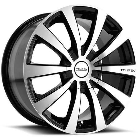 Touren TR3 15x7 5x112/5x115 +40mm Black/Machined Wheel Rim 15