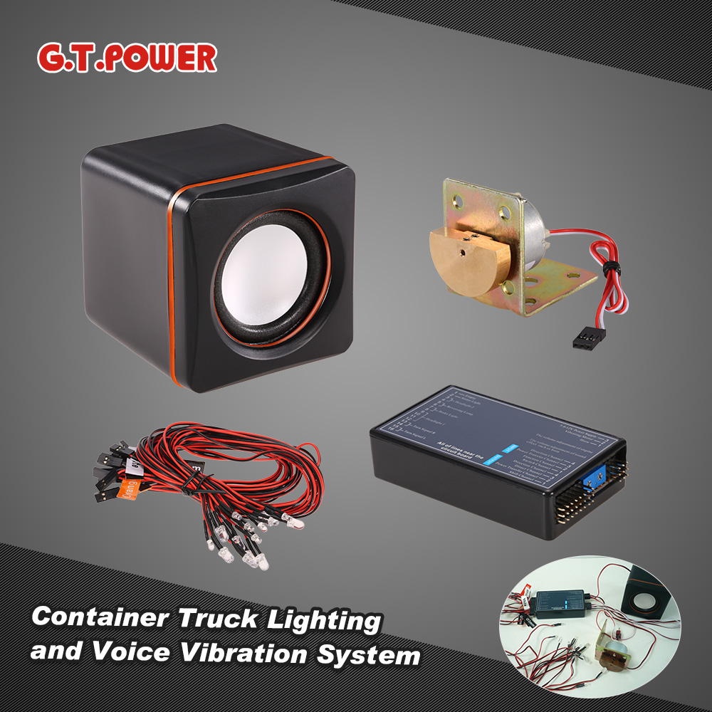 Original G.T.POWER Container Truck Lighting and Voice Vib...