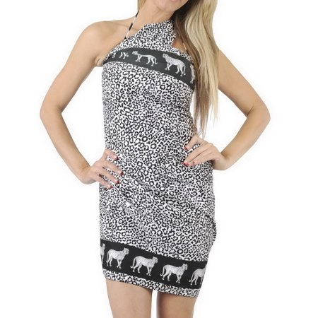 3ed97ce99430e LA LEELA - Sarong Bathing Suit Pareo Wrap Bikini Cover ups Womens Skirt  Swimsuit Swimwear - Walmart.com