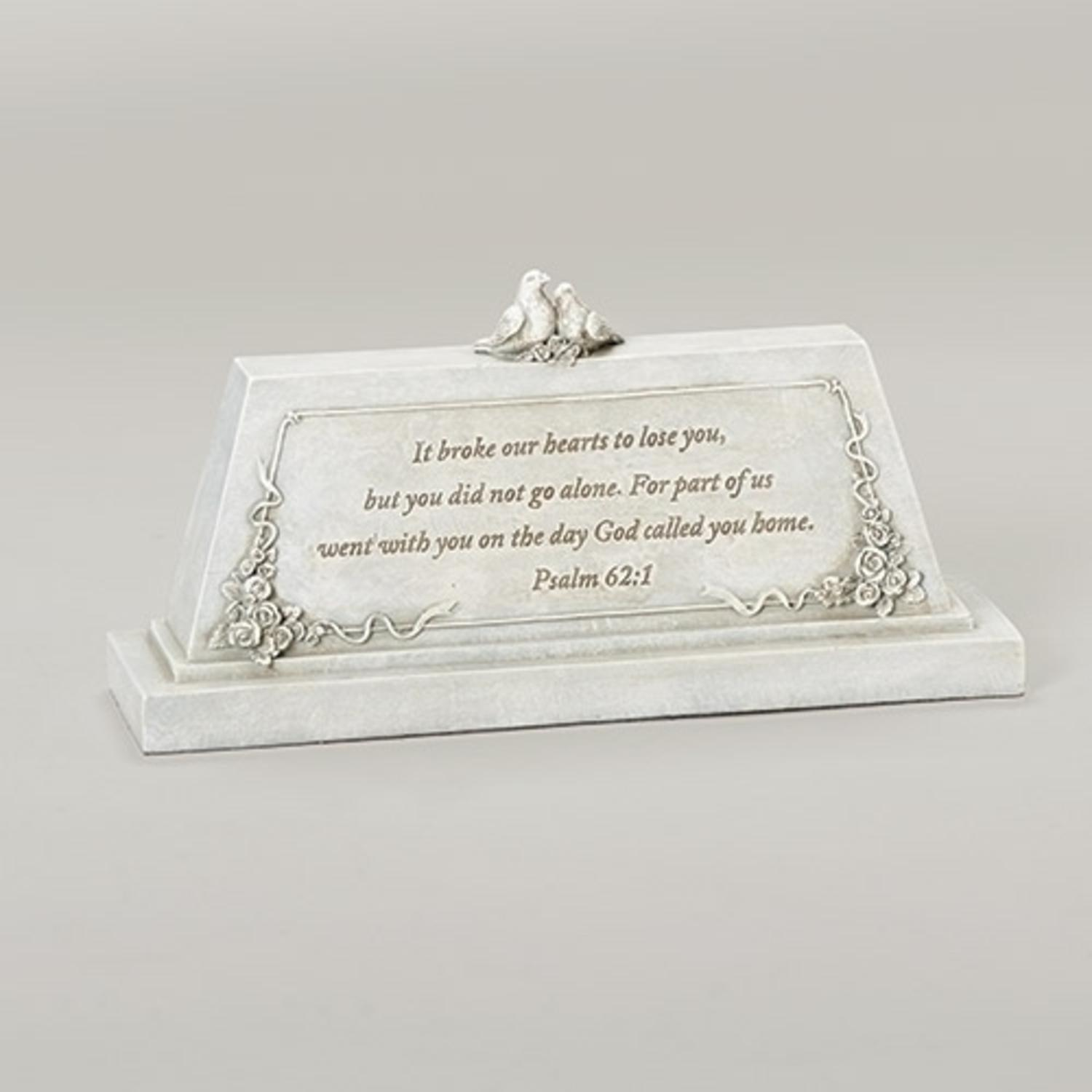 "9"" Forever with the Angels Religious Script Decorative Bereavement Table Top Plaque by Roman"