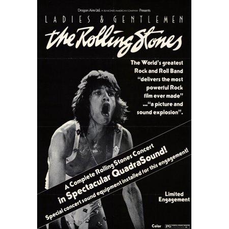 Ladies and Gentlemen the Rolling Stones (1974) 27x40 Movie (Ladies And Gentlemen The Rolling Stones Brown Sugar)