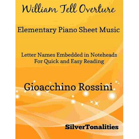William Tell Overture Elementary Piano Sheet Music - eBook](Halloween Elementary Music Class)