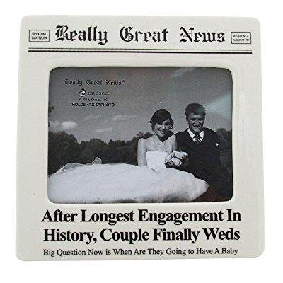 enesco really great news by lorrie veasey longest engagement photo - Enesco Picture Frame