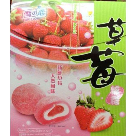 Japanese Onigiri Rice Ball - 2 x 10.5 Yuki & Love Japanese Rice Cake MOCHI STRAWBERRY