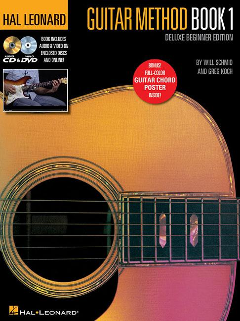 Hal Leonard Guitar Method Book 1, Deluxe Beginner Edition: Includes Audio & Video on Discs... by