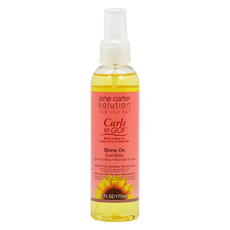 Jane Carter Curls To Go Shine On Curl Elixir 6Oz   177Ml