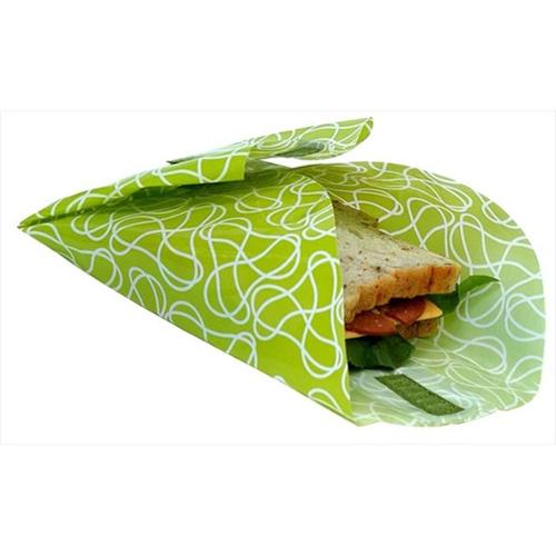 Kids Konserve Large Food Kozy Sandwich Wrap 2 Pack, Green