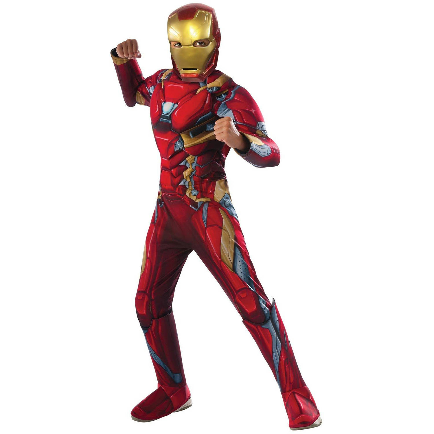 Marvel's Captain America Civil War Deluxe Iron Man Muscle Chest Child Halloween Costume