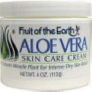 Fruit of the Earth Aloe Vera Cream 4 oz (Pack of 2)