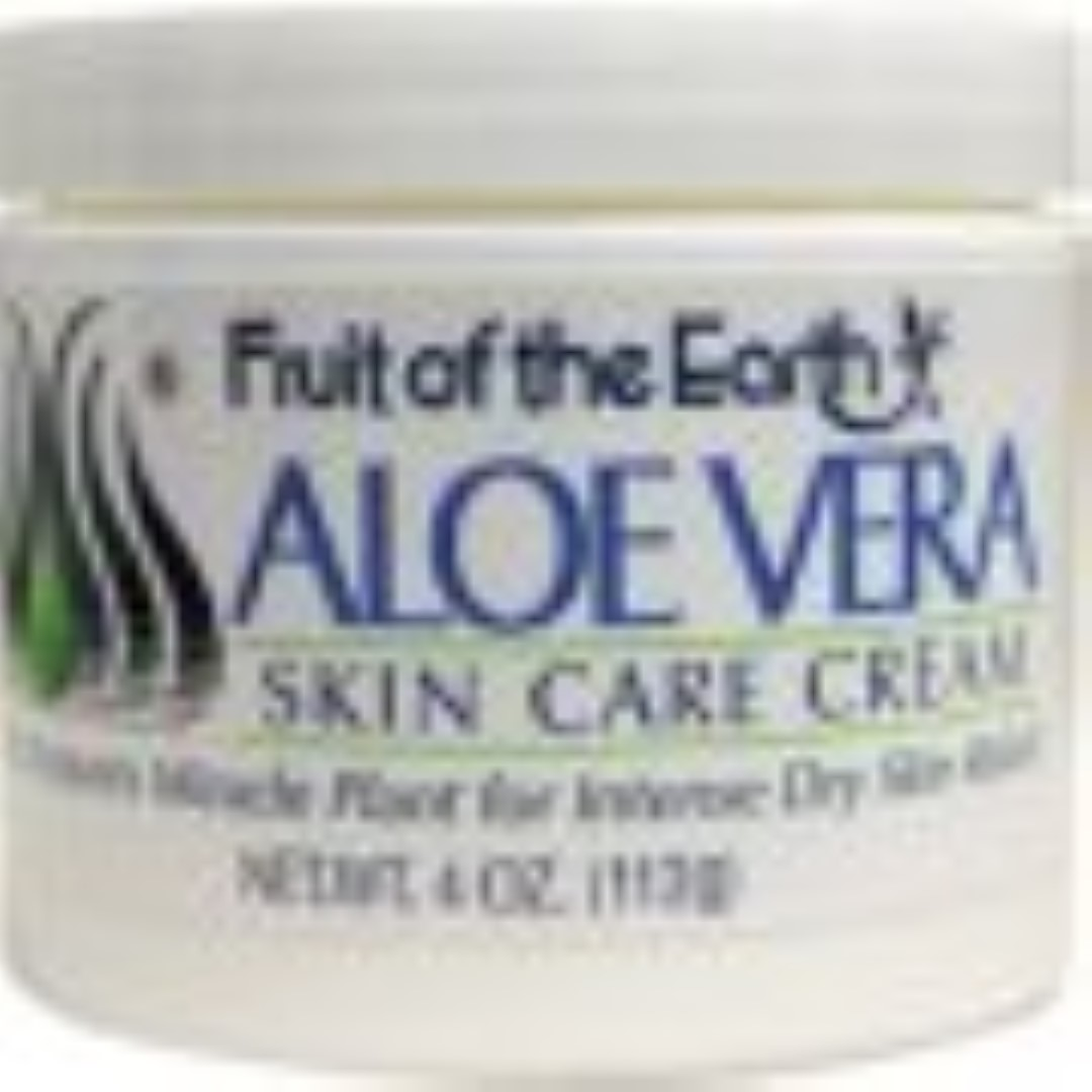 Fruit of the Earth Aloe Vera Cream 4 oz (Pack of 4)