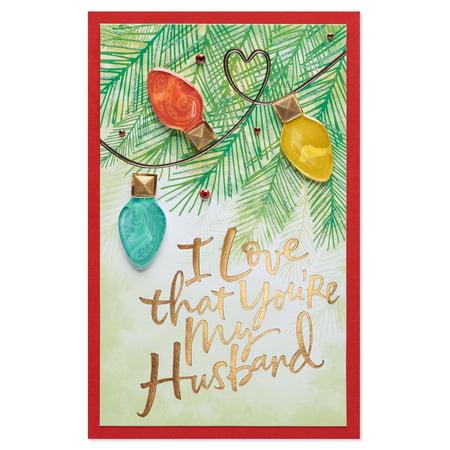 American greetings grateful christmas card for husband with glitter american greetings grateful christmas card for husband with glitter m4hsunfo
