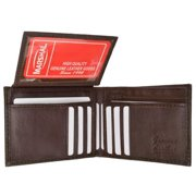 Genuine leather bifold credit card ID mens wallet 1613