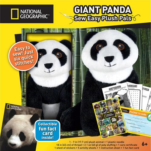 National Geographic Make And Play Plush Kit Giant Panda Walmart Com
