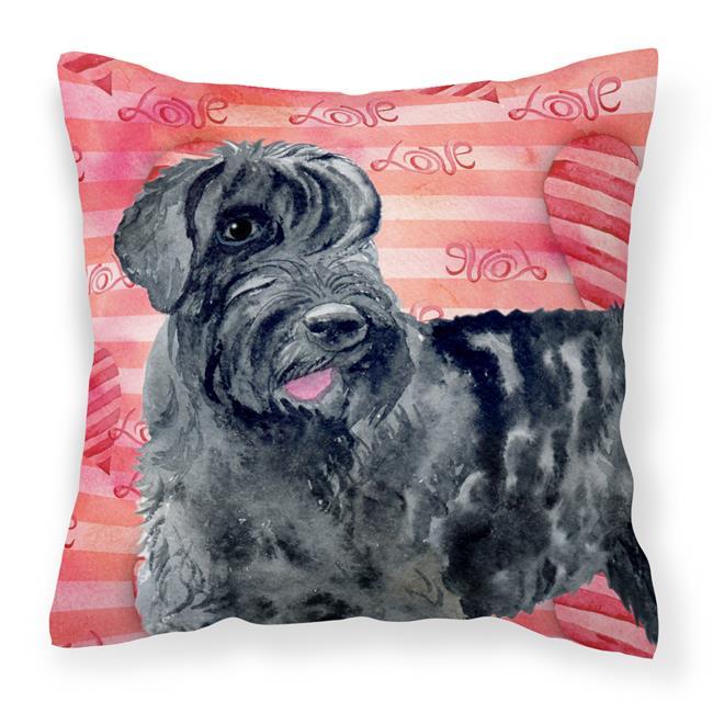 Carolines Treasures BB9747PW1818 Giant Schnauzer Love Fabric Decorative Pillow - image 1 of 1