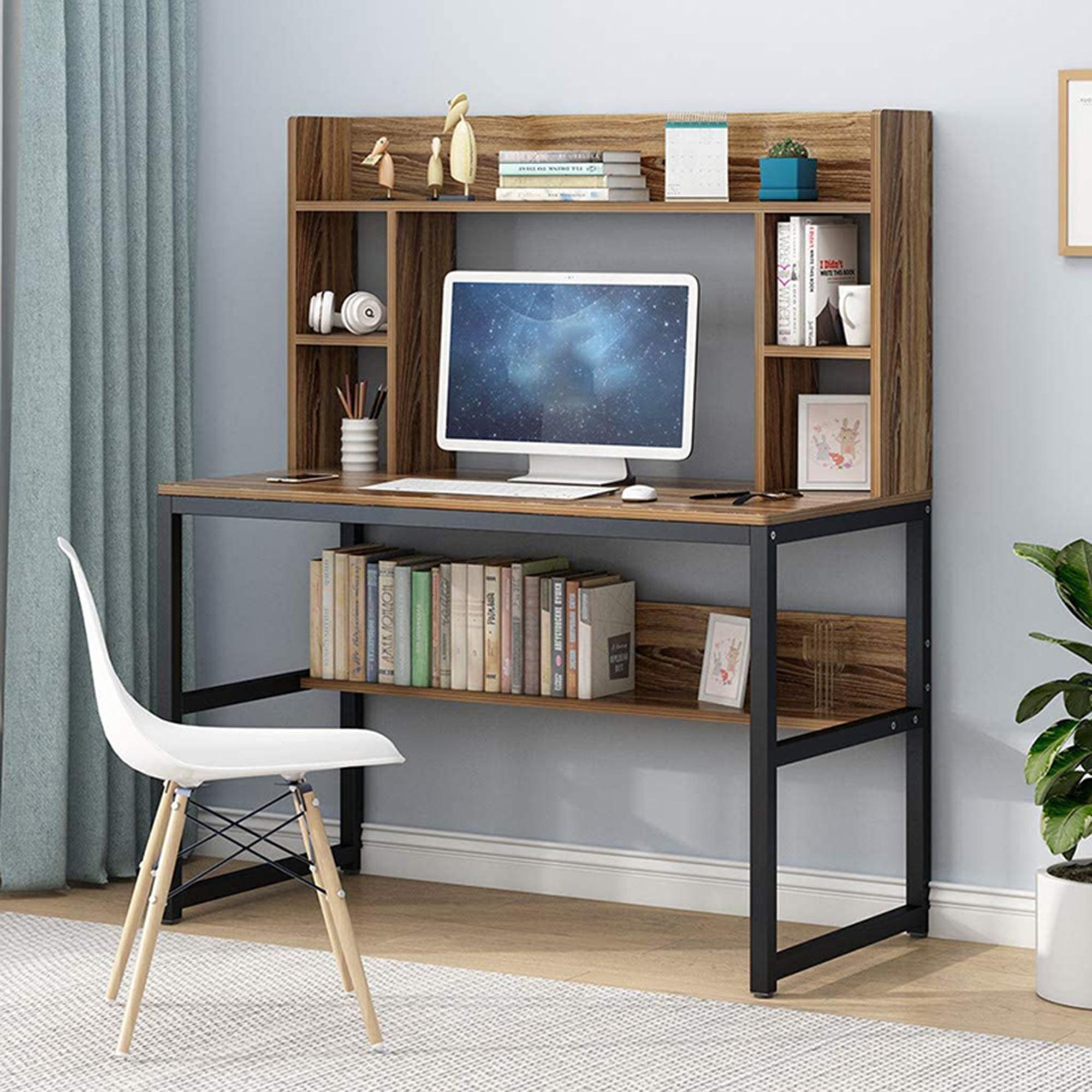 Computer Desk Home Office Desk PC Laptop Study Workstation Table w//Storage Shelf