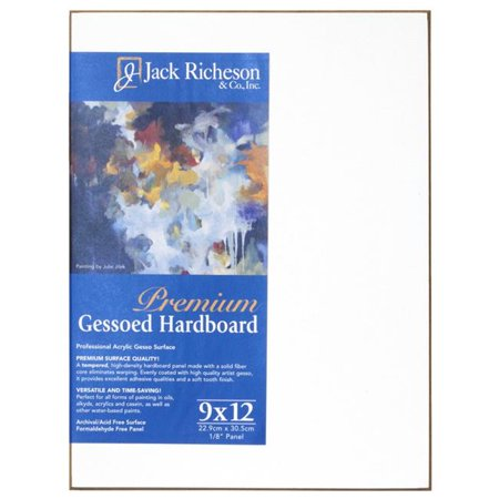 Jack Richeson Gessoed 1/8 in. Hardboard Panels (9 In. x 12 In.) (2 Units (Gessoed Panel)