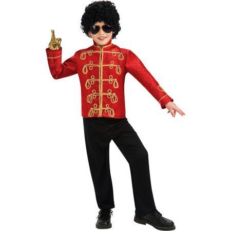 Michael Jackson Red Military Jacket Deluxe Child Halloween Costume](Halloween Michael Jackson Costume)