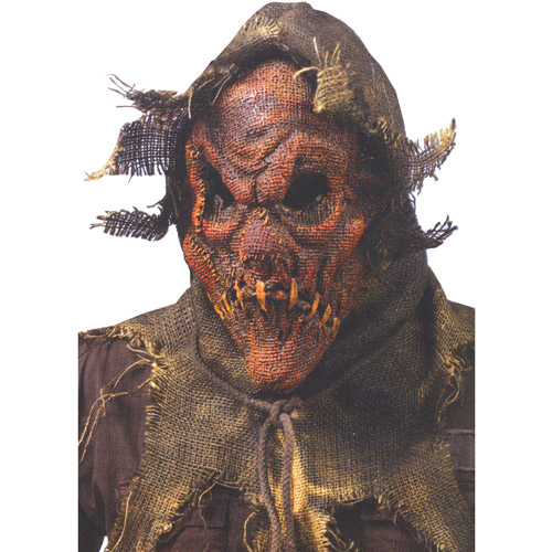 Scarecrow Gunny Sack Red Mask Adult Halloween Accessory
