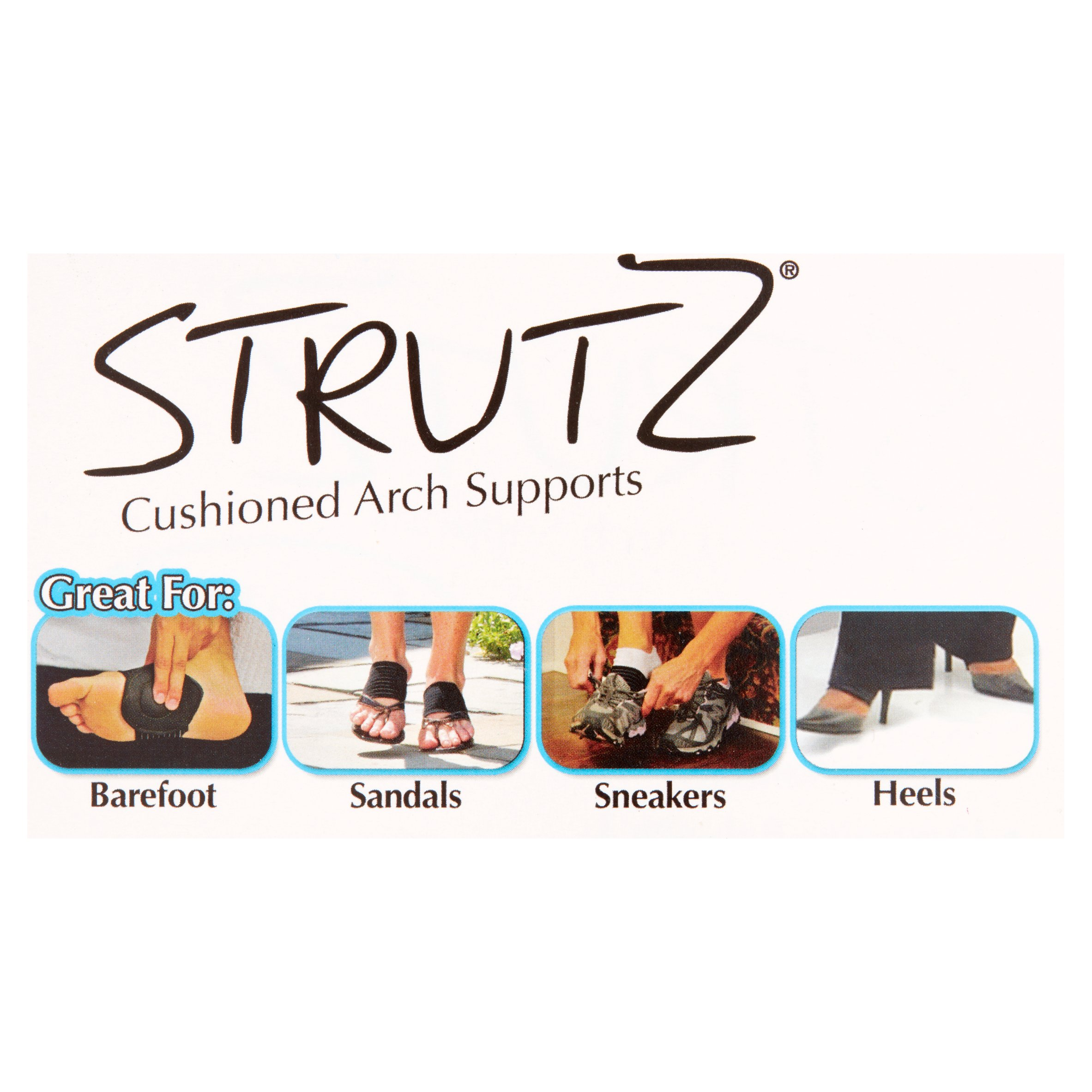 Strutz Cushioned Arch Supports 2 Count