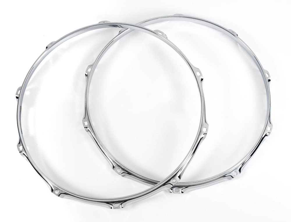 DW 10 Lug True Hoop Batter and Snare Side Pair 14 in. Chrome by DW