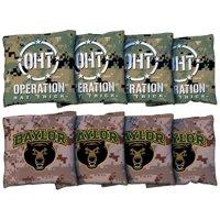 Baylor Bears 8-Piece Operation Hat Trick Regulation All-Weather Cornhole Bag Set