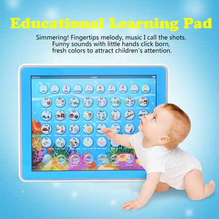 ABS Multifunction Mini English Spanish Study Learning Pad Touch Voice Educational Gift Kids Toy, Touch Learning Pad,Study Learning Pad](Learning Express Miami)