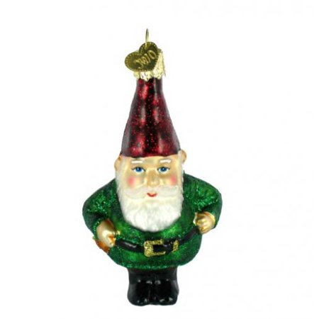 old world christmas gnome glass blown ornament - Gnome Christmas Decorations
