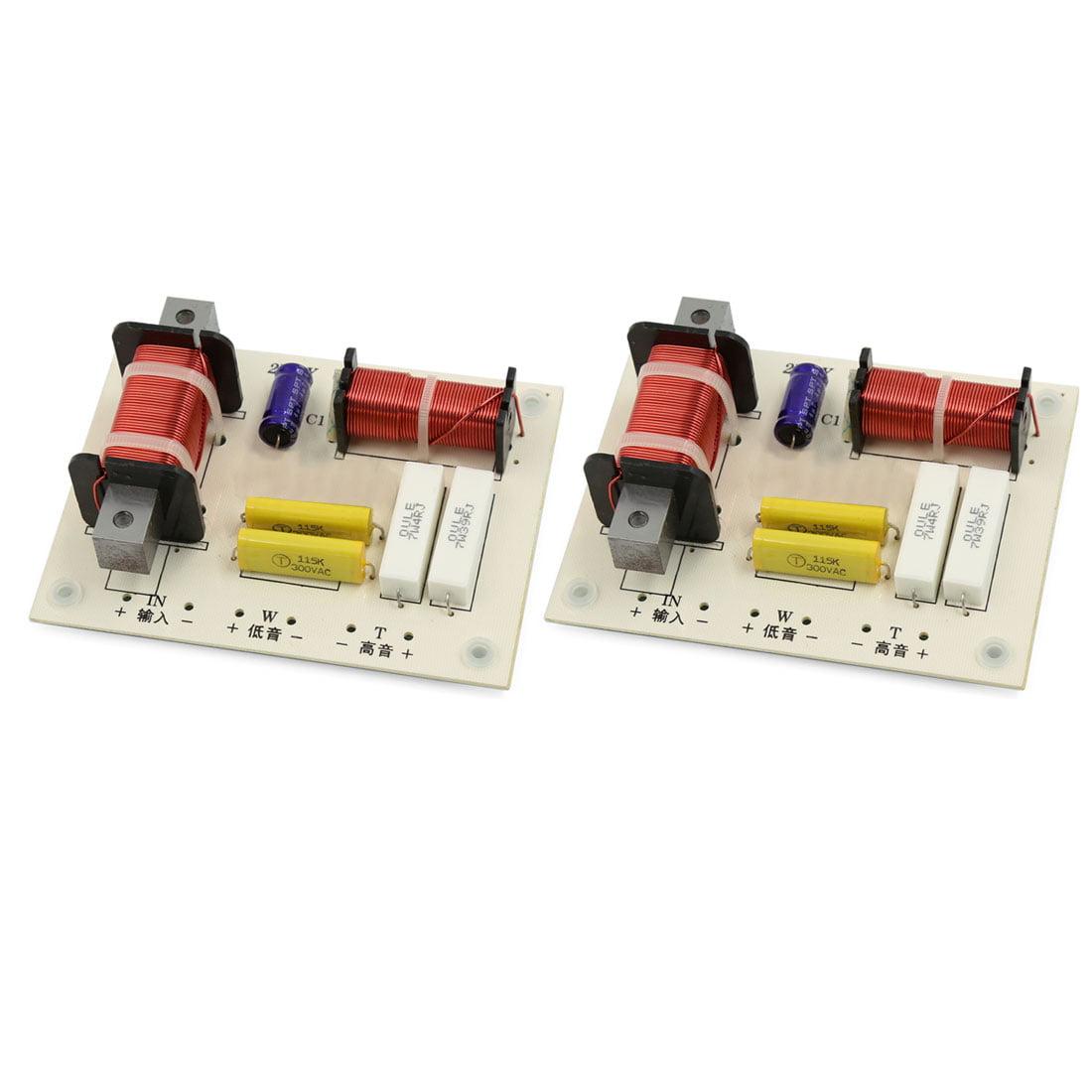 2 façons Haut-parleur Système Audio HiFi Filtres répartiteurs Diviseur de fréquence 180W 2 Pcs - image 2 de 2
