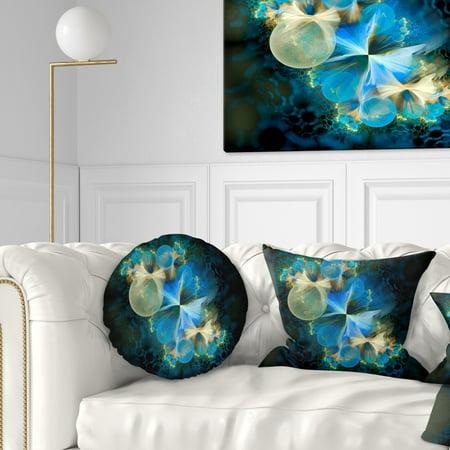 DESIGN ART Designart \'Fractal 3D Blue Bubbles\' Contemporary Throw Pillow