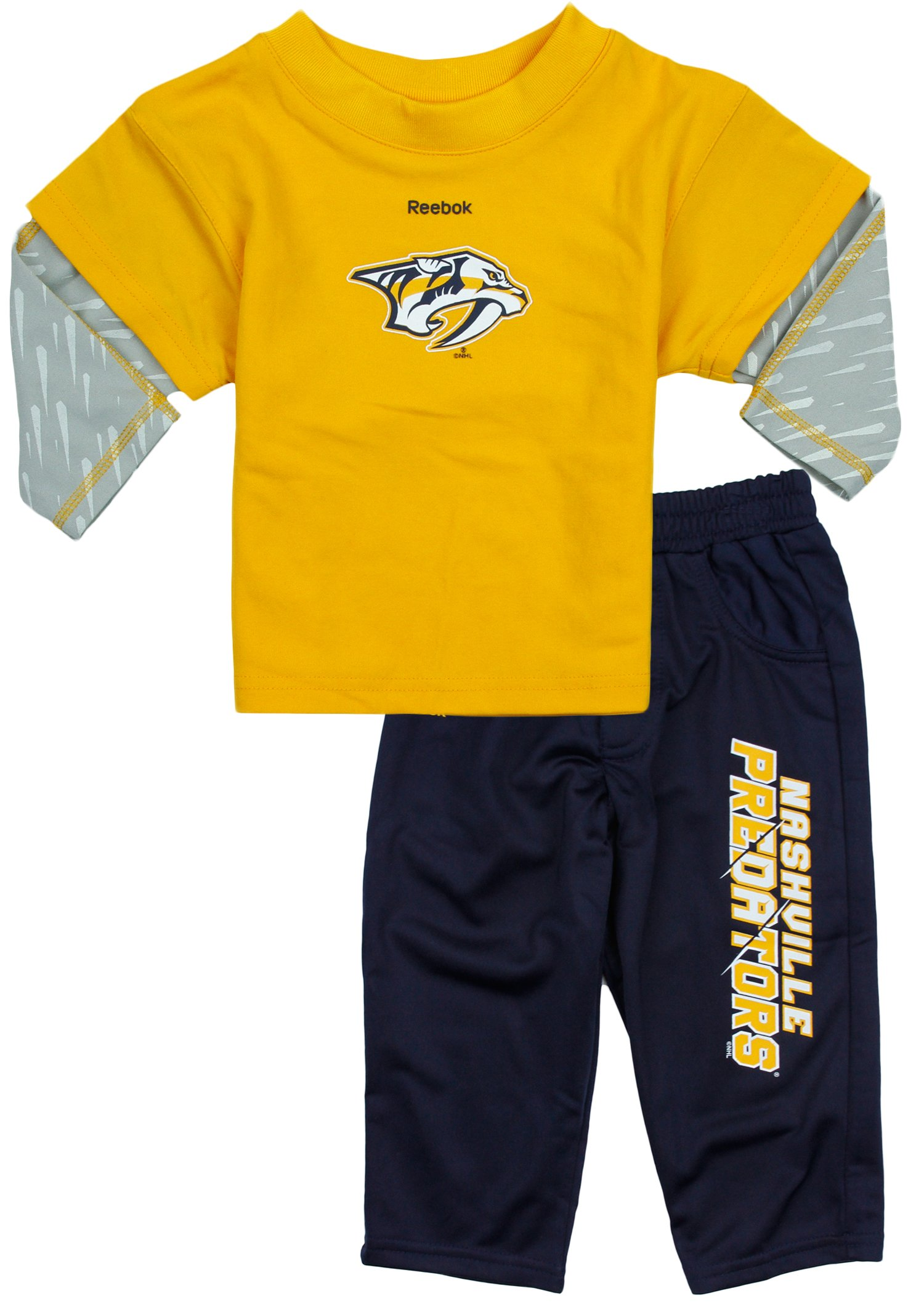Reebok NHL Hockey Toddlers Nashville Predators Power Play Pants and Shirt Set