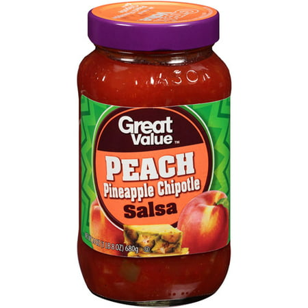 Great Value Mild Peach & Pineapple Chipotle Salsa, 24 oz