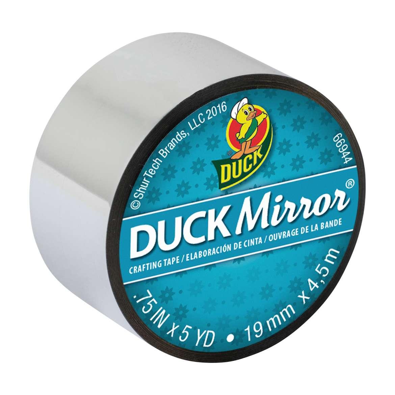 "Duck Mirror Crafting Tape Mini Roll, Silver, 0.75"" x 5 yards"