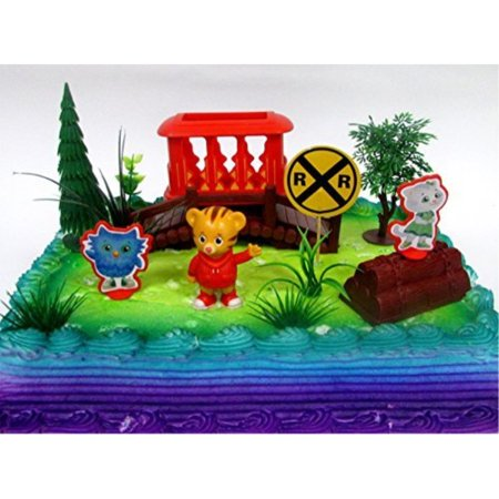 DANIEL TIGERS NEIGHBORHOOD 10 Piece Birthday CAKE Topper Set Featuring Daniel Tiger Katerina Kitty