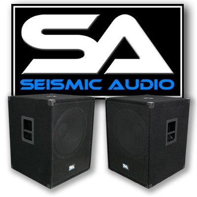 Seismic Audio NEW PAIR 18