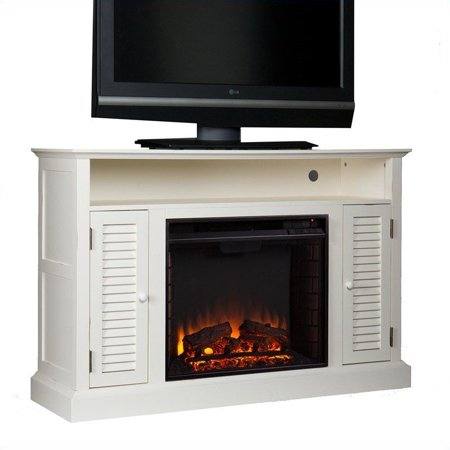 Southern Enterprises Savannah Media Electric Fireplace in Antique White - image 3 of 11