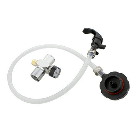 G Francis Mini Keg Dispenser Kit - CO2 Regulator for Draft Beer Keg w/ 2 Ft Hose and Spout