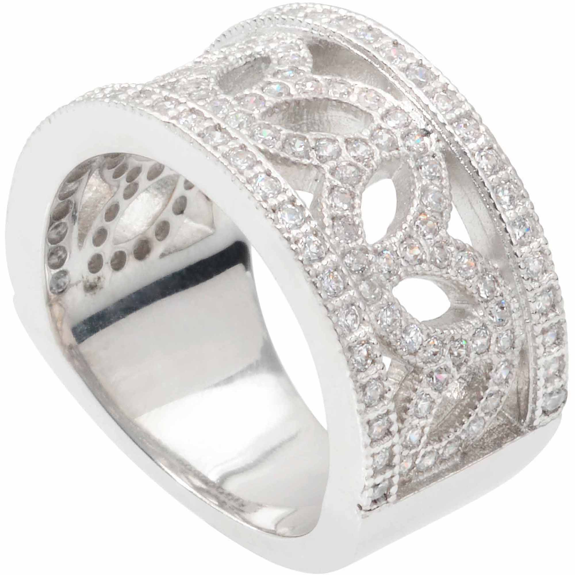 brinley co s cz silver tone fashion ring walmart