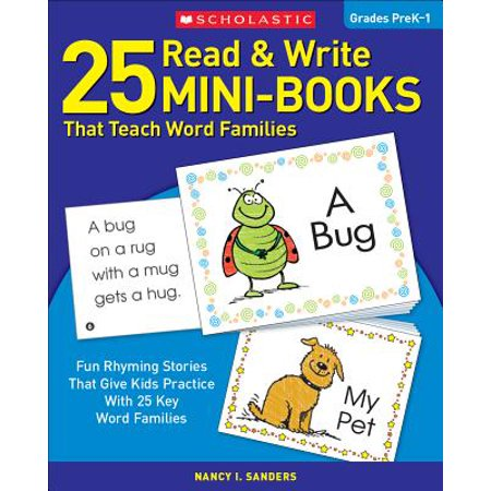 25 Read & Write Mini-Books : That Teach Word (The Best Way To Teach Reading)